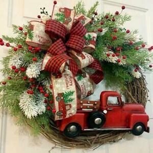 Christmas Wreaths Christmas Red Truck Holiday Pine Cones Autumn Wreath