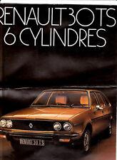 Catalogue publicitaire RENAULT R30 TS