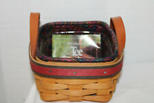 1999 Longaberger Father'S Day Tee Basket, Fabric, Protector, Card