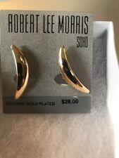 plated present clip earrings 301A $28 Robert Lee morris gold