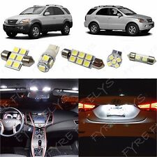 11x White LED lights interior package kit for 2003-2008 Kia Sorento KS2W