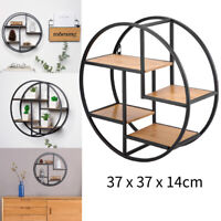 Round Floating Shelf Wall Mounted Display Rack Home Office Decor Storage Rack