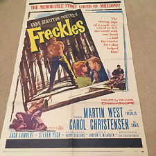 ORIGINAL ONE SHEET 27 X 41 VINTAGE POSTER  FOLDED FRECKLES 1960 MARTIN WEST