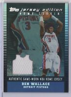 2002-03 Topps Ben Wallace Pistons Jersey Edition Black Home Cookin' 49/99
