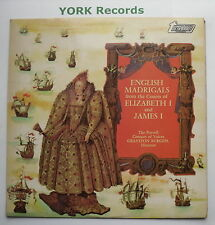 TV 34202S - ENGLISH MADRIGALS FRON THE COURTS OF ELIZABETH 2 & JAMES 1 - Ex LP