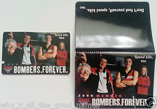 2000 AFL PREMIERS ESSENDON BOMBERS Football Club Members Ticket & Holder Wallet
