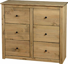 PANAMA NATURAL WAX PINE 6 DRAWER CHEST OF DRAWERS *FREE NEXT DAY DELIVER