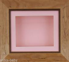 15.2x12.7cm Pino Rústico marco 3D Profundo Caja Presentación Rosa Soporte