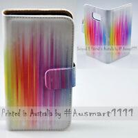 For Google Pixel Series Mobile Phone Rainbow Stripe Print Flip Case Phone Cover