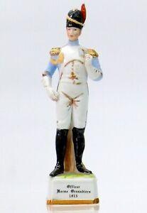 ALFRETTO porcelain figurine Horse Grenadiers Officer 1815