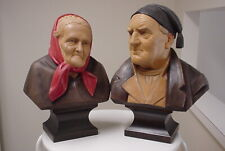 Two Carved Outstanding Quality Busts
