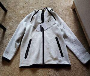 Nike Tech Fleece Windrunner Full Zip Hoodie Light Bone CU4489-072 Mens S M L