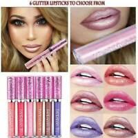 Lipstick Matte To Glitter Lip Gloss Long Lasting Liquid Makeup Cosmetic 6 Colors