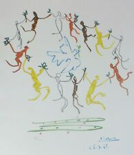 """PABLO PICASSO """"Danse""""THE DANCE OF YOUTH SIGNED HAND NUMBERED 928/1000 LITHOGRAPH"""