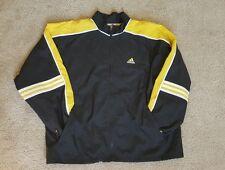 Adidas vintage windbreaker: jacket: raincoat: black: yellow: 80s: 90s: Size L