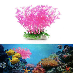 Plastic Artificial Fake Water Grass Plants for Fish Tank Aquarium Ornament UK