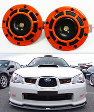 SUBARU IMPREZA WRX STi GC8 GF GDB ORANGE 12V GRILL MOUNT COMPACT SUPER LOUD HORN