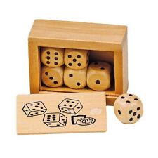 Cube Box with 6 Holzwürfeln Wood Dice HS239
