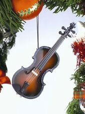 """FIDDLE WOODEN 5"""" MUSICAL INSTRUMENT CHRISTMAS ORNAMENT"""