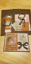 Thanksgiving Turkey Prestamped 3 piece Card Kit