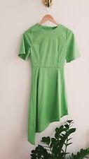 Lime Green Asymmetric Midi Dress size 8 NEW without Tags