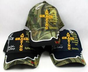 Amazing Grace Ephesians 2:8 Ball Cap Hat Christian I Love Jesus God Religious