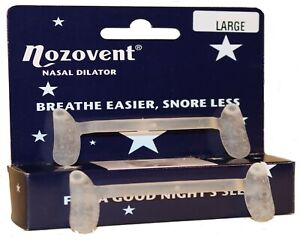 Nozovent Nasal Dilator to enable easier breathing,  SIZE LARGE