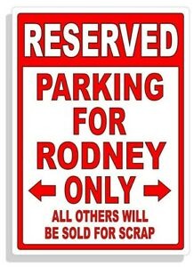 Personalized Parking Sign Wall Decal Metal Sign No Parking Customized for RODNEY