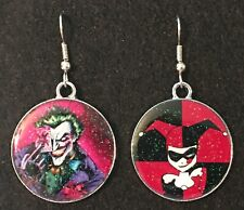JOKER & HARLEY QUINN Mix set Earrings Surgical Hook New Cartoon Batman Villians