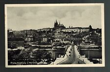 1937 Prague Czechoslovakia Berlin Manes Bridge Castle Real Photo Postcard Cover