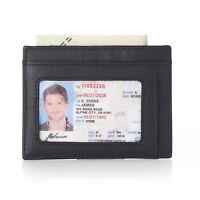 Alpine Swiss RFID Blocking ID Card Holder Thin Minimalist Front Pocket Wallet