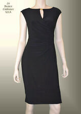 LAUREN RALPH LAUREN Women Size 10 Dress BLACK Keyhole Knee Dressy NWT$134