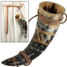 Snakeskin Medieval Viking Leather Holder Beer Drinking Horn
