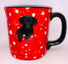 Keith Kimberlin Black Lab Puppy Coffee Mug Bubbles Pot Photographer Red Black