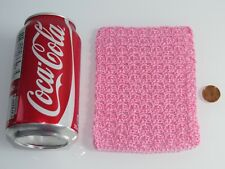NEW  HANDMADE PINK CROCHET BLANKET FOR/FITS DOLLHOUSE MINIATURE MATTEL BABY DOLL