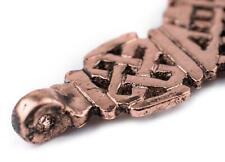 Awash Copper Ethiopian Coptic Cross Pendant 40x65mm African Large Hole Handmade