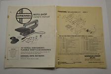 Dremel Moto-Shop Owner's Manual Brochure