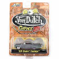 Jada Von Dutch Garage '59 1959 Chevy Impala Raw Zamac Style Diecast 1/64 Scale