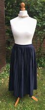 TopShop Navy Blue Long Skirt - Pleated With Elasticated Waist - UK 16 - BNWT £32