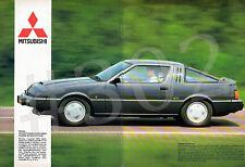MITSUBISHI STARION 2 litre ECI TURBO ADVERT - 1983 Automotive Advertisement
