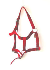 HORSE & WESTERN TACK DOUBLE LAYER STITCHED  NYLON WEBBING PONY SIZE HALTER RED