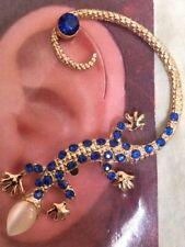 USA Gekko Lizard Earring Ear Cuff Wrap Stud Dragon BLUE Bohemian Brides Maid