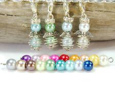 10 mini Engel im bunten Farbmix DIY Bastelset Drahtperle Bastelidee Perlenengel