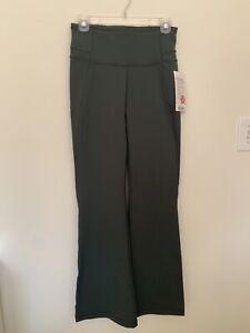 "LULULEMON GROOVE Pant Flare Deep Ivy Green Size 8 32.5"" Inseam - Yoga Pants"