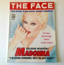 The Face Magazine | Oct 95 | Madonna | Keanu Reeves, Lucious Jackson