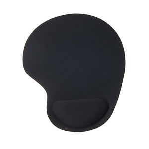 Black Mouse Pad Mat Anti Slip Comfortable Soft Wrist Rest Support for Desk Table