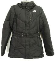 North Face Womens Black 600 Goose Down Insulated Hooded Jacket Parka Coat S