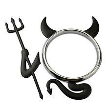 BLACK DEVIL KIT 3D Devil Car Emblem Decal Badge Sticker Kit Fits Around Car Logo