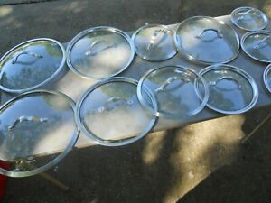 Calphalon Stainless & Glass Replacement Pot Pan Lid  1YOU TELL ME MEASUREMENTS