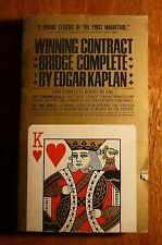 Winning Contract Bridge Complete by Edgar Kaplan Bantam PB 1968